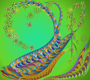 Zentange d'arbre Impression de vecteur Images libres de droits
