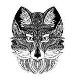 Zentangl狼 免版税库存照片