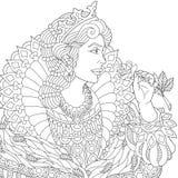 Zentangle传统化了女王/王后 图库摄影