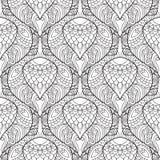 Zentangle传统化了孔雀羽毛样式 向量例证