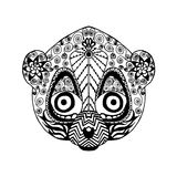 Zentangle传统化了狐猴 纹身花刺或T恤杉的剪影 图库摄影