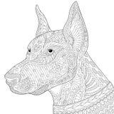 Zentangle传统化了短毛猎犬短毛猎犬狗 库存例证
