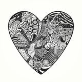 Zentangle心脏 免版税库存照片