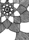 Zentangle摘要花 bird eye s speedwell 拉长的现有量 向量例证
