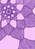 Zentangle摘要花 bird eye s speedwell 象查找的画笔活性炭被画的现有量例证以图例解释者做柔和的淡色彩对传统 贺卡的装饰品 紫色和桃红色颜色 乱画 库存图片