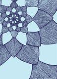 Zentangle摘要花 bird eye s speedwell 象查找的画笔活性炭被画的现有量例证以图例解释者做柔和的淡色彩对传统 贺卡的装饰品 蓝色颜色 乱画图画 库存图片