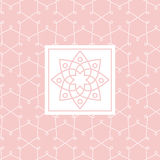 Zentangle瑜伽演播室设计卡片 免版税库存图片