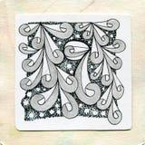 Zentangle艺术乱画纹身花刺 库存图片