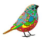 Zentangle鸟五颜六色的样式