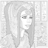 Zentangle η τυποποιημένη Κλεοπάτρα (Nefertiti) Στοκ Φωτογραφίες