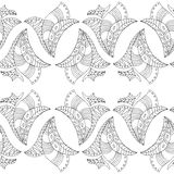 Zentangle με τα φύλλα Στοκ φωτογραφία με δικαίωμα ελεύθερης χρήσης
