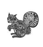zentangle σκίουρος Στοκ Εικόνες