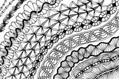 Zentangle - στοχαστικό σχέδιο Στοκ εικόνες με δικαίωμα ελεύθερης χρήσης