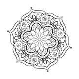Zentangle τυποποιημένο κομψό μαύρο Mandala για το χρωματισμό της σελίδας ελεύθερη απεικόνιση δικαιώματος