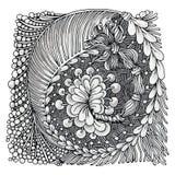 Zentangle Imagen de archivo libre de regalías
