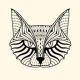 猫zentangle 免版税图库摄影