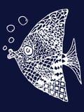 Ψάρια Zentangle Στοκ Εικόνες