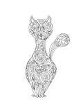 猫zentangle 免版税库存照片