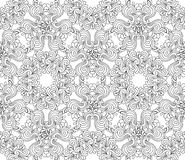 Безшовная декоративная картина графика zentangle Стоковое Фото