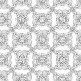Безшовная декоративная картина графика zentangle Стоковое Изображение RF