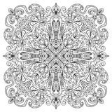Zentangle abstrait de mandala Image libre de droits