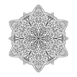 Zentangle abstrait de mandala Photo libre de droits