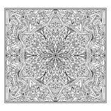 Zentangle abstrait de mandala Images stock