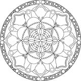 Zentangle adult coloring page, mandala. royalty free stock photos