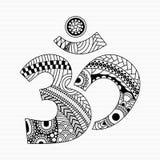 Zentangle-Art Aum-Symbol Stockfoto