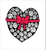 Zentangle astratto del cuore Fotografia Stock