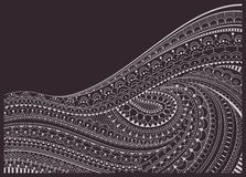 Zentangle Background. Background with zentangle, zendoodle pattern. Vector illustration royalty free illustration