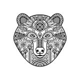 Zentangle bear head Royalty Free Stock Images