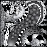 Zentangle bild Arkivfoto