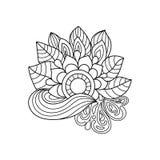Zentangle bloemenpatroon Stock Foto