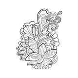Zentangle bloemenpatroon Stock Foto's