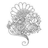 Zentangle bloemenpatroon Royalty-vrije Stock Afbeelding