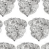 Zentangle blomma Royaltyfri Bild
