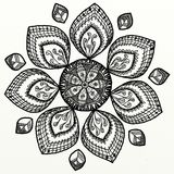 Zentangle blomma royaltyfri fotografi