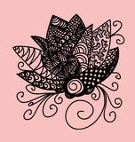 Zentangle-Blume Stockfoto