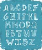Zentangle-Buchstaben Stockfotografie