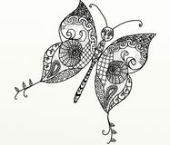 Zentangle butterfly Stock Photos