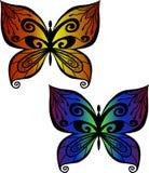 Zentangle butterfly Stock Image