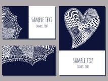 Zentangle cards Stock Photo