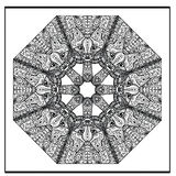 Zentangle cat mandala - coloring book page for adults, relax Royalty Free Stock Image