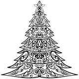 Zentangle choinki dekoracyjny doodle Zdjęcia Royalty Free