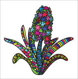 Zentangle color flower. This illustration is in style zentangle,color,unique,different colors, this is flower very beautiful represented nature Royalty Free Stock Images