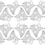 Zentangle com folhas Foto de Stock Royalty Free