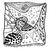 Zentangle decorative drawing Stock Image