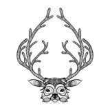 Zentangle deer. Hand Drawn  illustration. Sketch Stock Photos