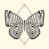 Zentangle 4 della farfalla Fotografia Stock Libera da Diritti